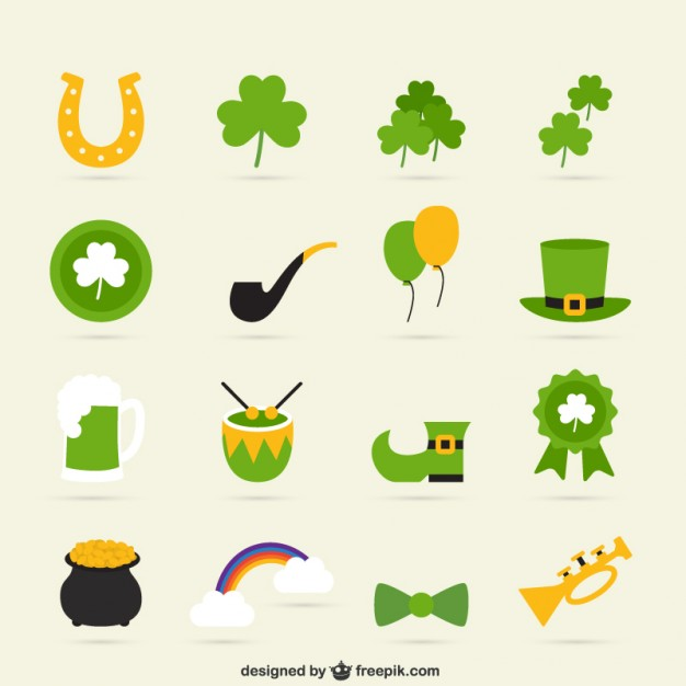 626x626 Variety Of St Patricks Day Icons Vector Free Download