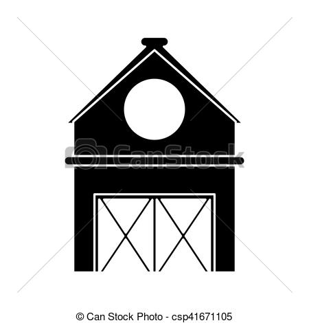 450x470 Isolated Farm Building Design. Farm Building Icon. Stable