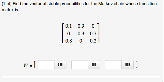 536x270 Solved (1 Pt) Find The Vector Of Stable Probabilities For