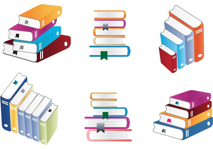 700x490 Colorful Stack Of Books Vectors