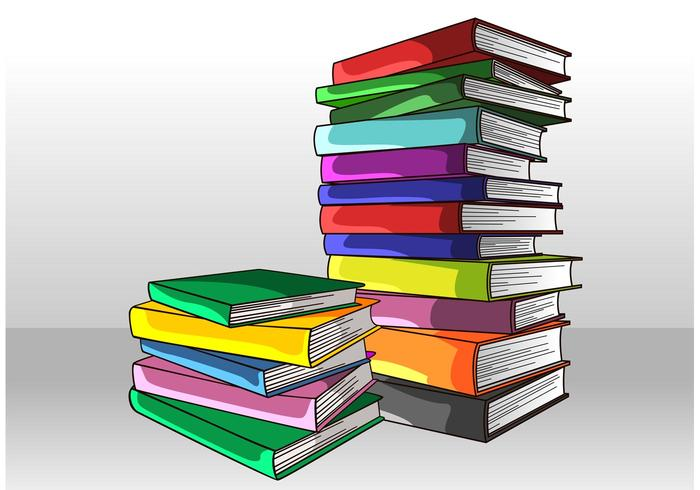 700x490 Stack Of Books Vector