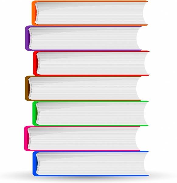 582x600 Stack Of Books Free Vector In Adobe Illustrator Ai ( .ai