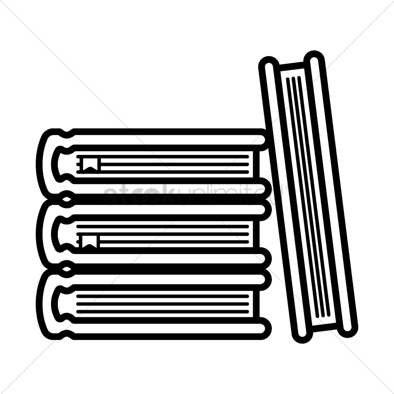 1300x1300 Stack Of Books Vector Image