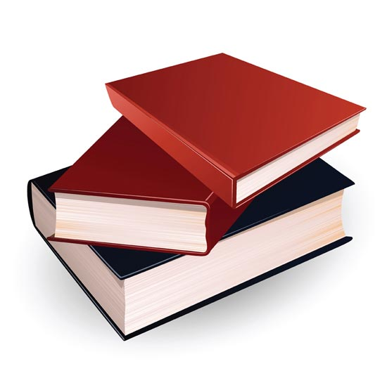 550x548 Stack Of Books Vector Design