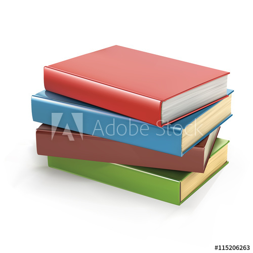500x500 Stack Of Books Vector Illustration. Pile Of Books. Stack Of Books
