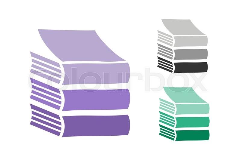 800x532 Books Vector Logo Icons Set. Sale Background. Book Logo. Book Open