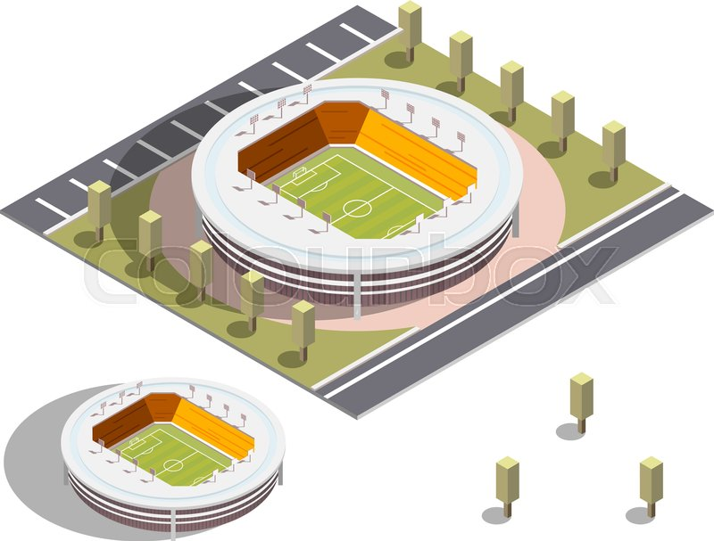 800x607 Isometric Stadium Vector. Isometric Series. Compose Your Own World