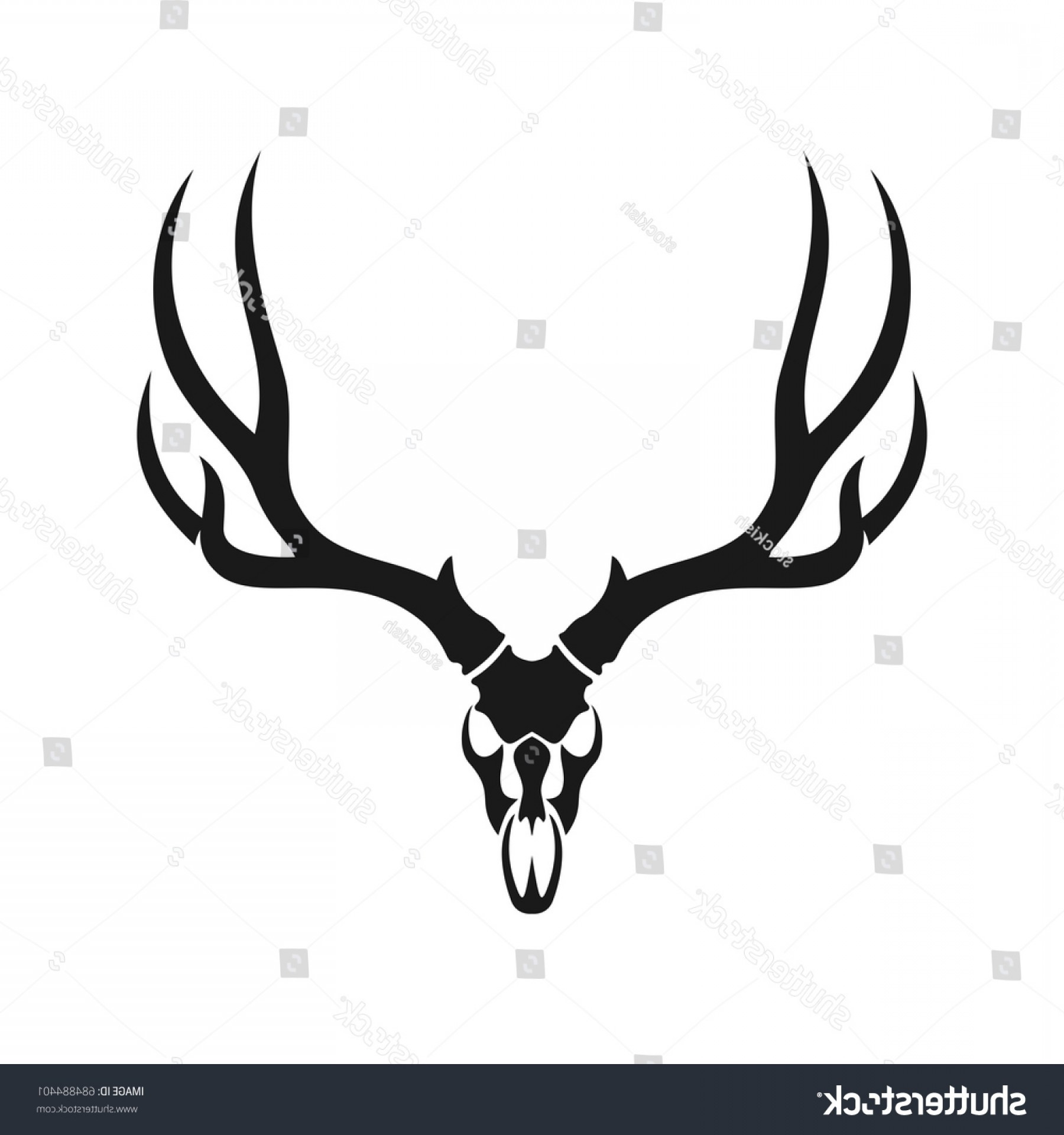 Stag Head Vector