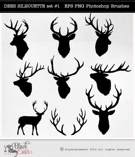 570x665 Deer Clipart Bust