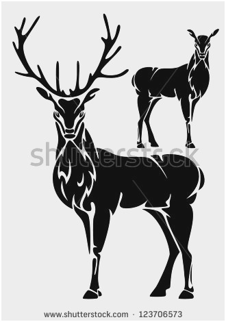 330x470 Reindeer Head Vector Beautiful Deer Head Vector Stock Vector