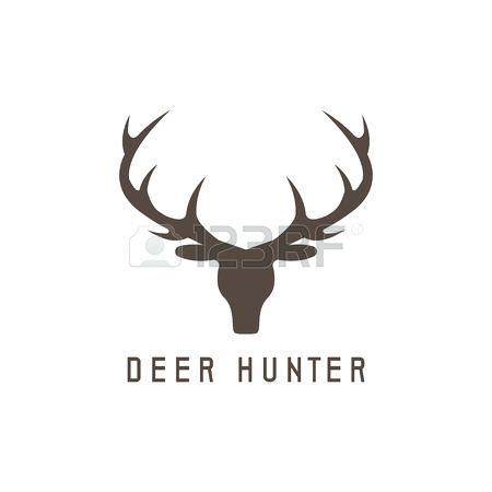 450x450 Stag Head Template Deer Head Vector Design Illustration