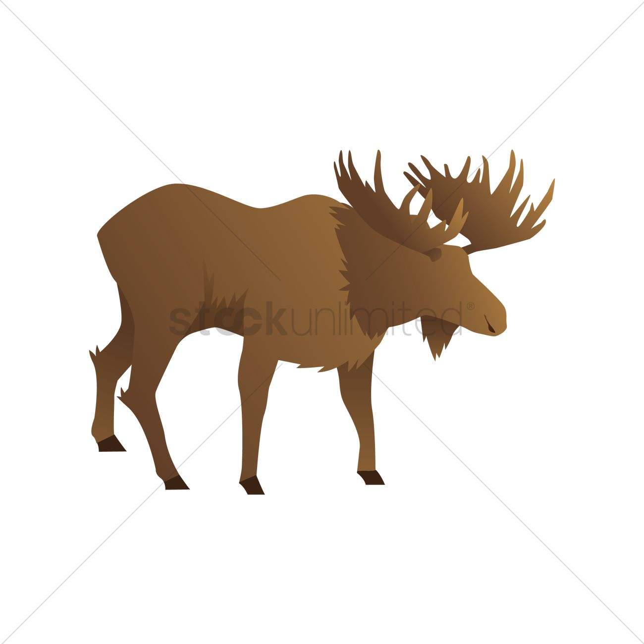 1300x1300 Free Stag Vector Image