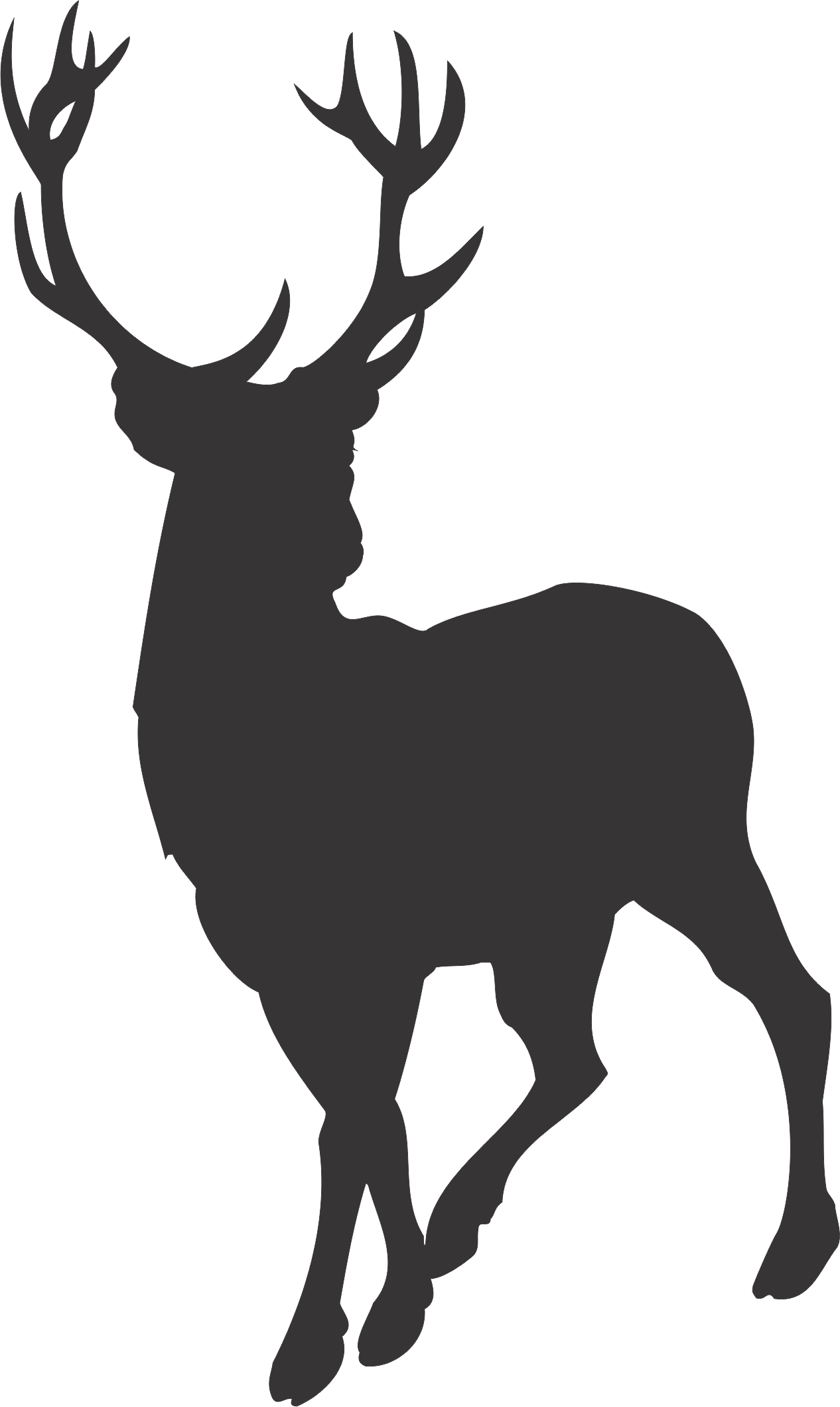 1266x2118 Stag Silhouette Clipart
