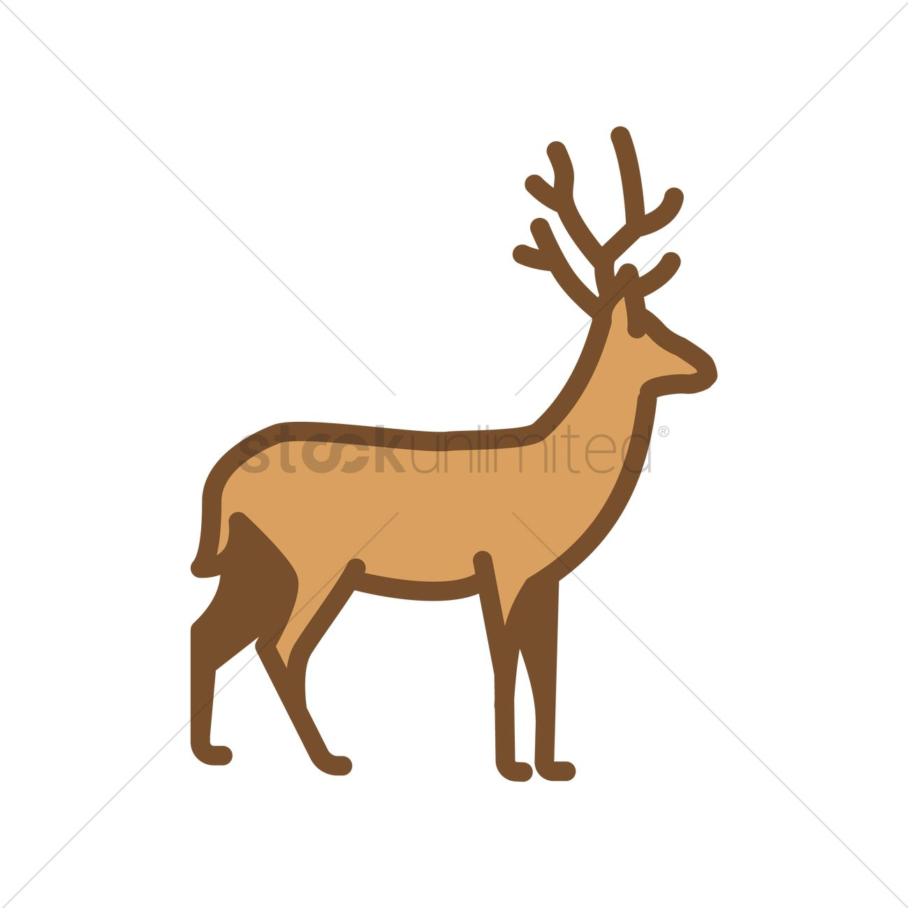 1300x1300 Stag Vector Image