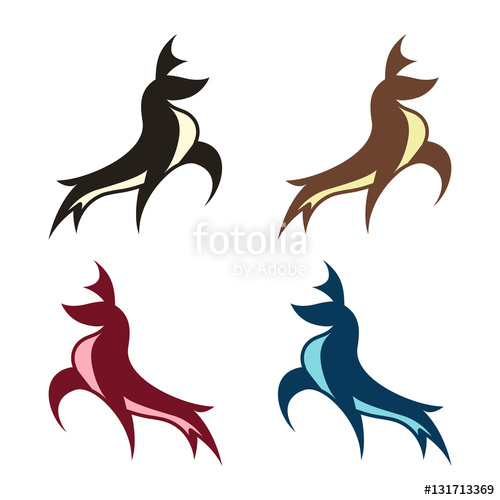 500x500 Abstract Deer Buck Stag Vector Logo Illustration Stock Image And