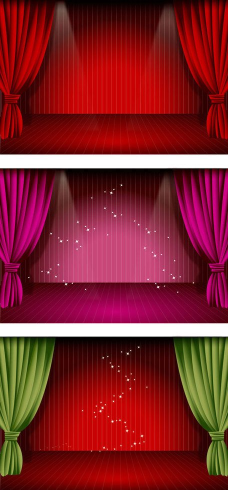 456x979 Free Stage Curtain Clipart And Vector Graphics