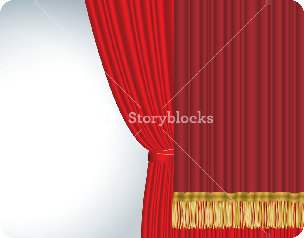 1000x784 Red Stage Curtain. Vector. Royalty Free Stock Image