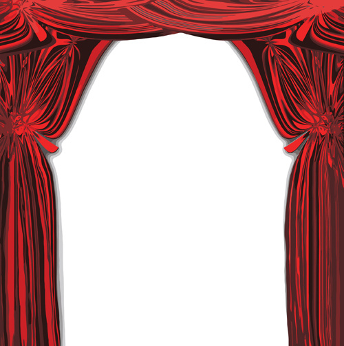 500x503 Red Stage Curtain Design Vector Graphic Free Vector In