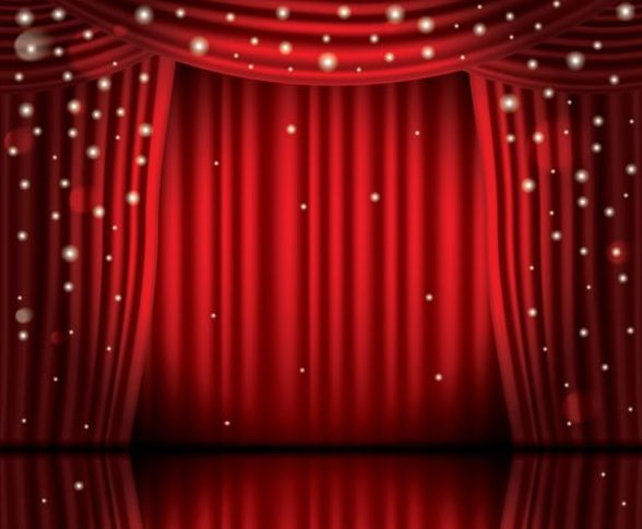 588x485 Stage And Red Curtain Vector Background 12 Free Download