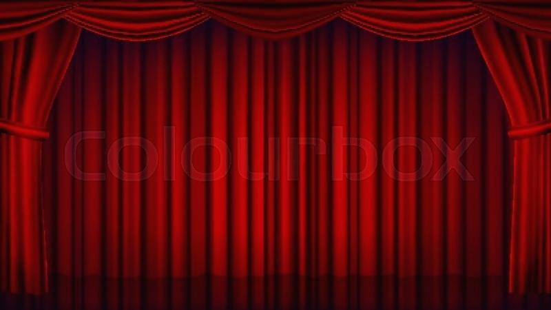 800x450 Theater Curtain Red Theater Curtain Vector Theater Opera Or Cinema