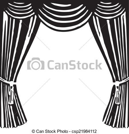 450x465 Theater Curtain. Open Theater Curtain