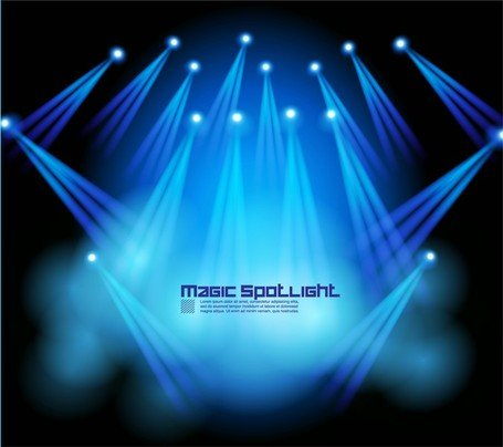 455x404 Free Stage Lighting Effects 05 Clipart And Vector Graphics