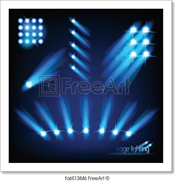 561x581 Free Art Print Of Vector Stage Light Elements. A Collection Of