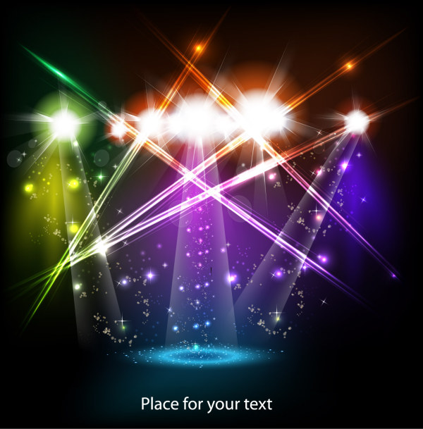 600x609 Shiny Stage Lighting Vector Eps Format Free Vector Download