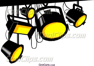 300x210 Stage Light Vector