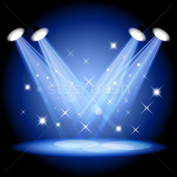 600x600 Stage Light Vector Illustration Elena Garbar (Elenashow