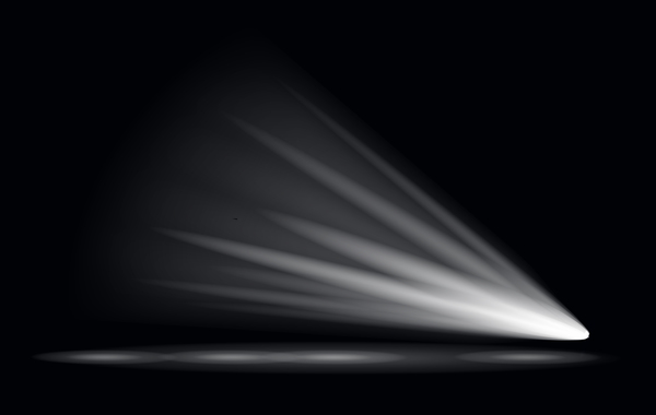 600x380 Stage Light Effect Spotlight Vector Illustration 01 Free Download