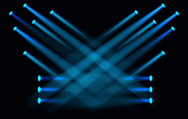 600x380 Stage Light Effect Spotlight Vector Illustration 03