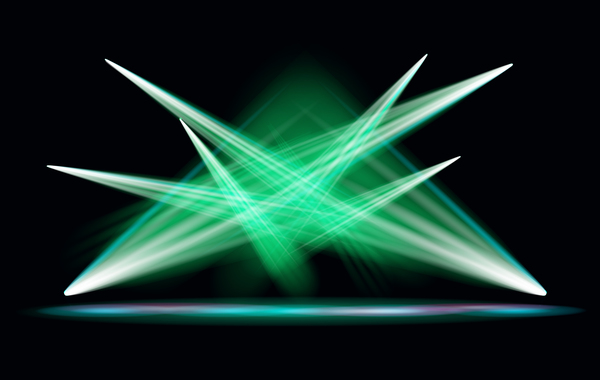 600x380 Stage Light Effect Spotlight Vector Illustration 04 Free Download