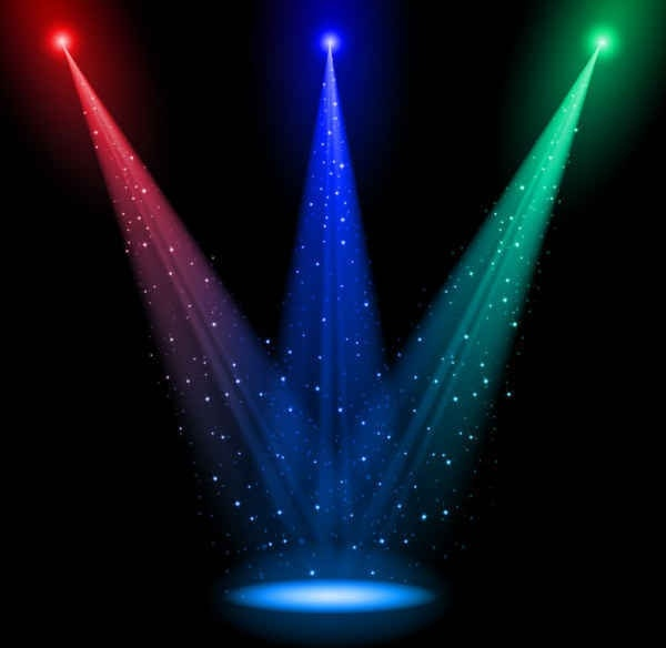 600x584 Brilliant Stage Lighting Vector Backgrounds Free Vector In