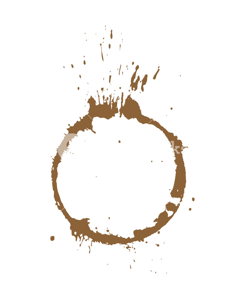 818x1000 Coffee Stain Vector Royalty Free Stock Image