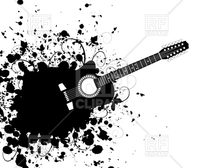 400x338 Guitar With Black Stain Vector Image Vector Artwork Of Signs