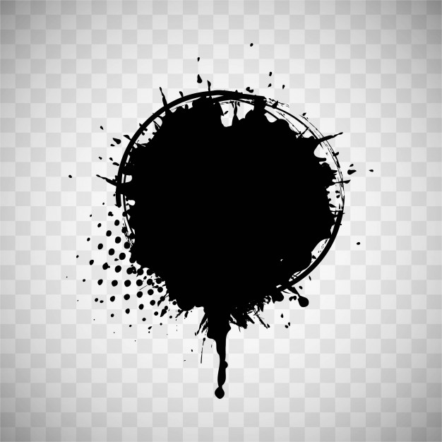 626x626 Black Paint Stain Vector Free Download