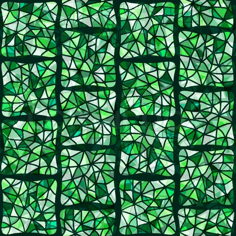 800x800 Green Stained Glass Window