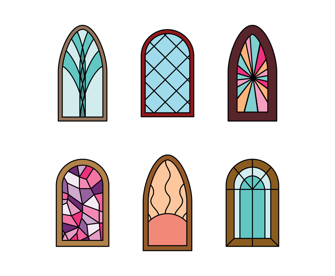 1136x936 Set Of Religious Stained Windows Vector Art Amp Graphics