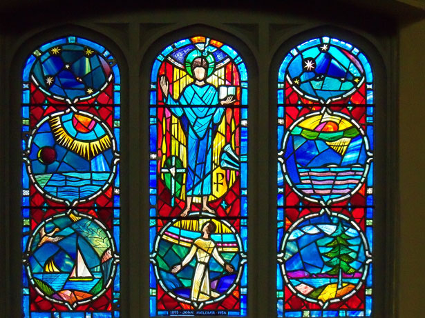 615x461 Stained Glass Windows Free Stock Photo