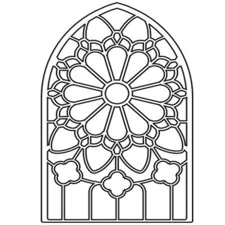 768x768 Stained Glass Clipart Gothic Window