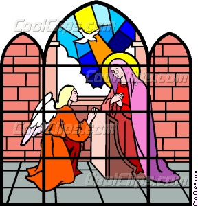 288x300 Stained Glass Window Vector Clip Art