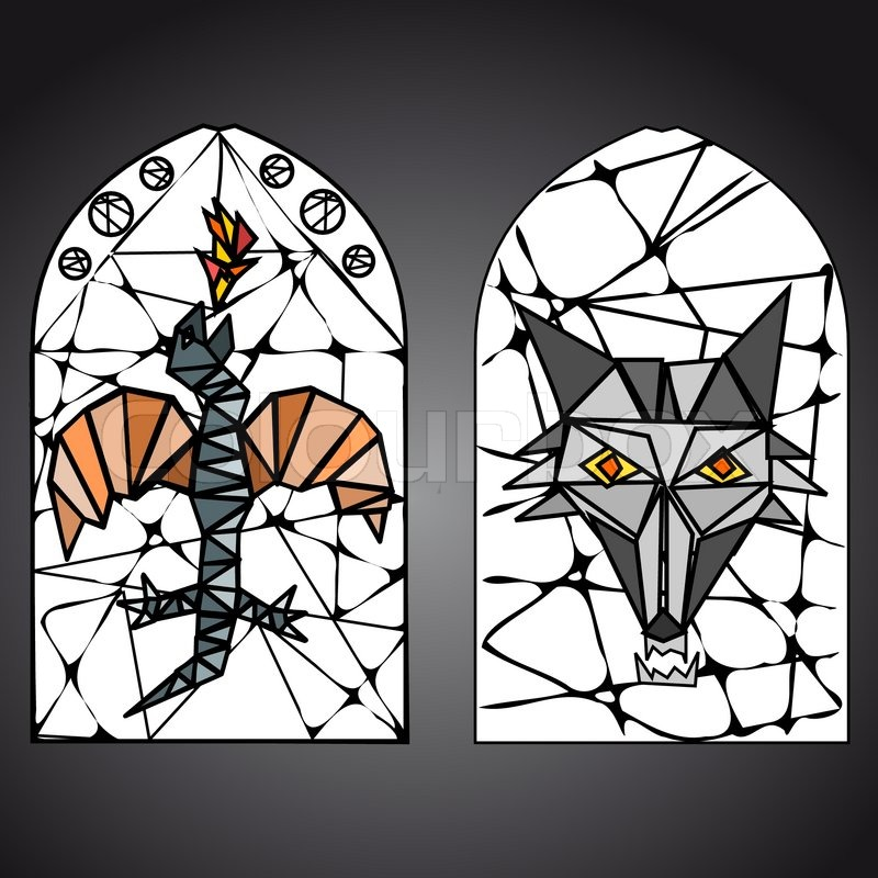 800x800 Stained Glass Window Vector Stock Vector Colourbox