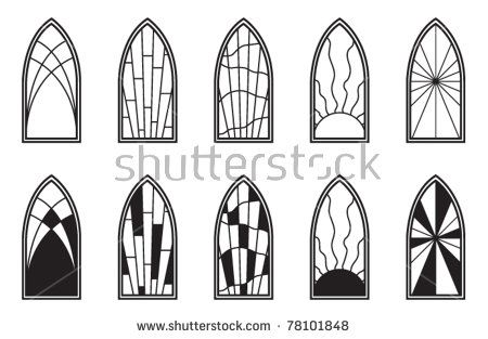 450x313 Vector Art Depicting Isolated Stained Glass Window Church Stage