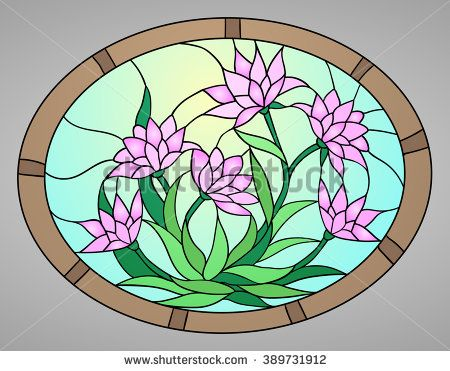 450x371 Vector Illustration With Flowers Lotus, Water Lily, Magnolia In