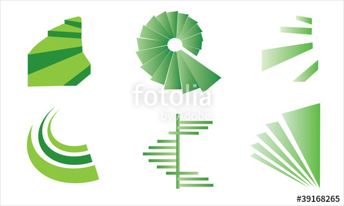 500x300 Spiral Stairs Vector Logo Stock Image And Royalty Free Vector