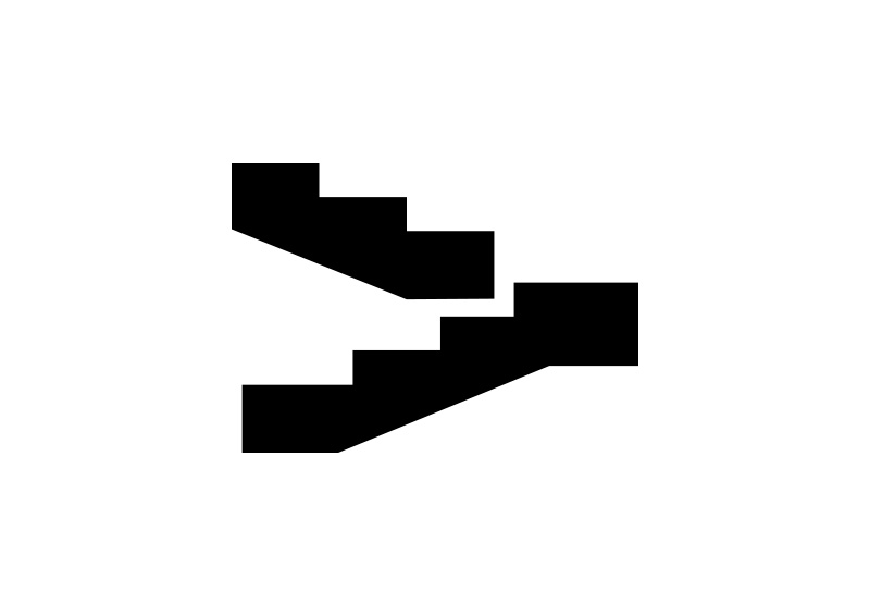 800x566 Black Simple Stairs Vector Icon