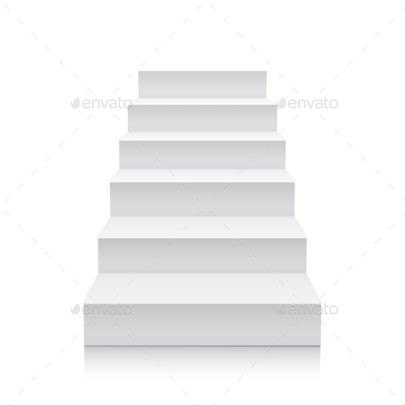 590x590 Stairs Isolated On White Background By Aleksandrs B Graphicriver