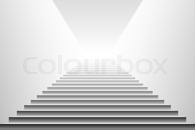 800x532 Stairs Vector. Stairs. Detailed Illustration Of Black White Stairs