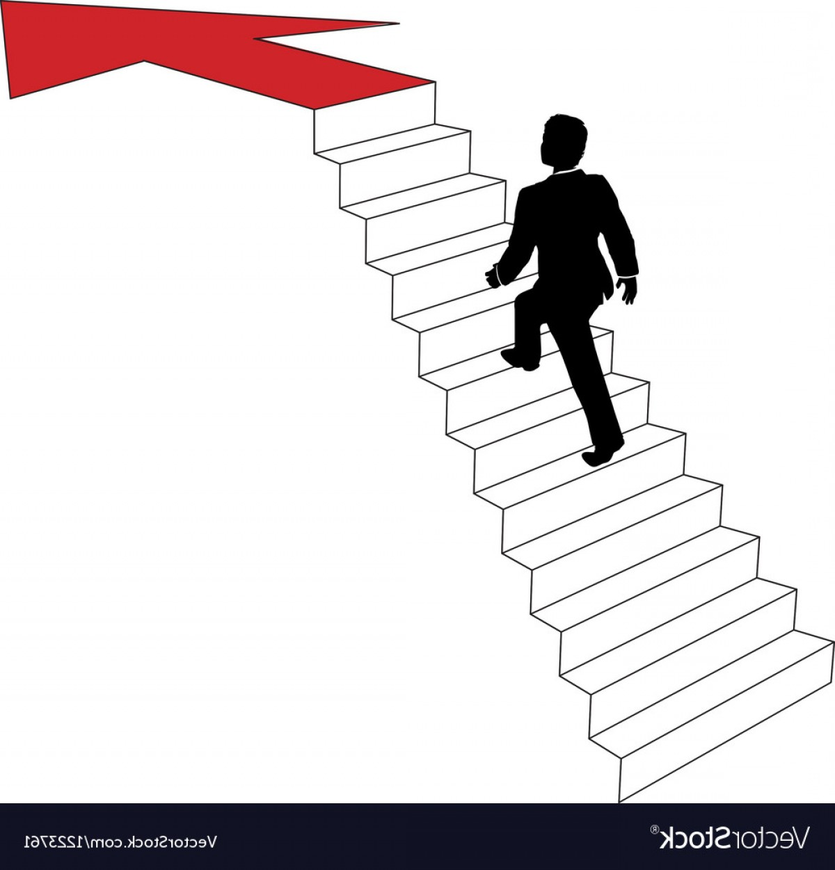 1200x1251 Business Man Climbs Up Arrow Stairs Vector Lazttweet